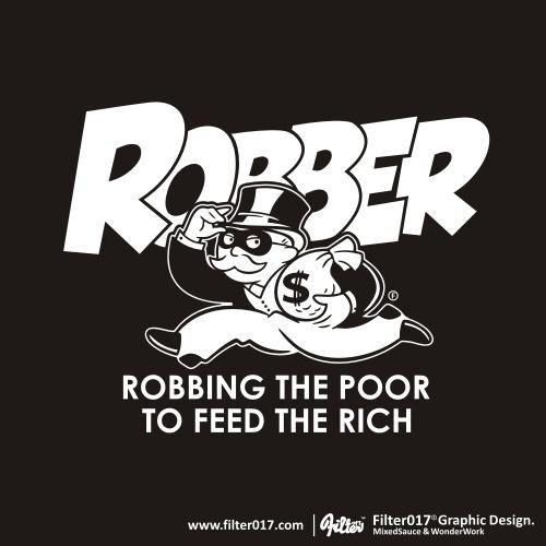 Designersgotoheaven.com - Robbing the poor by... - Designers Go To Heaven #illustration #typography