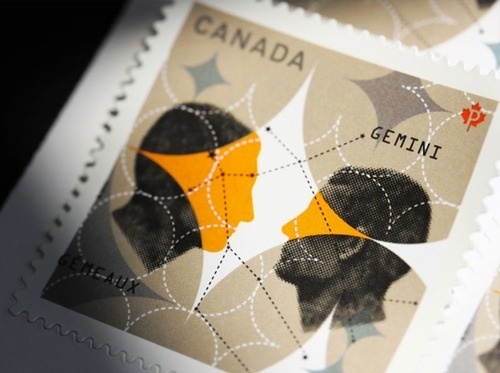 Louis Gagnon #canada #stamp #couple #postage #human #illustration #face