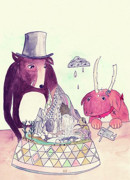 http://www.behance.net/gallery/The big plenty and the wee tubby sparsely/8447285 Das große Viel und das kleine dicke Wenig The big plenty #illustration #watercolor #childbook