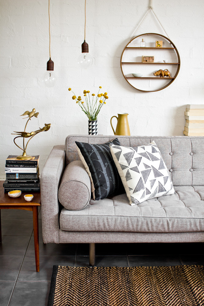 Monochrome, timber & mustard – experimenting with styling #interior #sofa #photography #desig