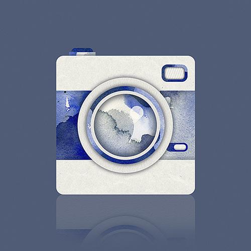 Paper camera by aparaats #pattern #water #icon #camera #texture #lomo #aparaats #colour