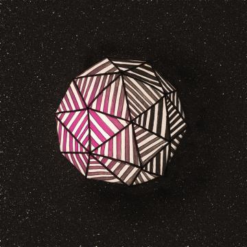 tetrohydrasphere (zero-g-geometry) #geometry #stripes #space #geometric #illustration #syfy #object #science