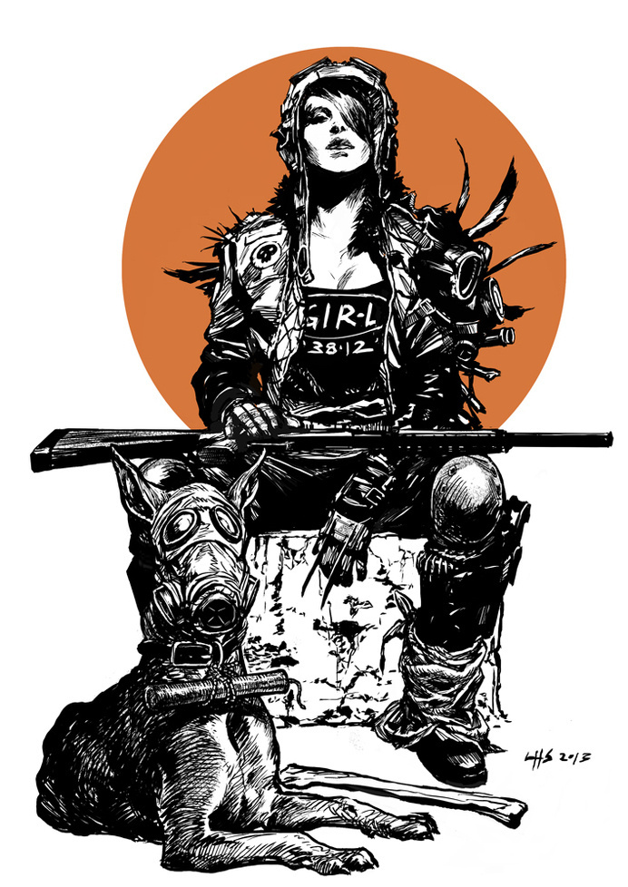 Post apocalyptic 2 - A Girl And Her Dog by bumhand on deviantART #post #apoalyptic