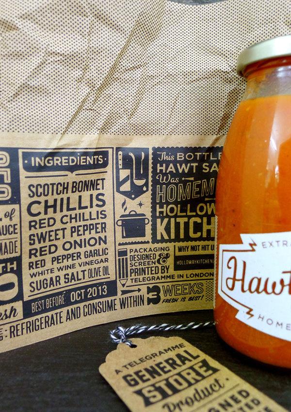 Hawtsauce #packaging #label