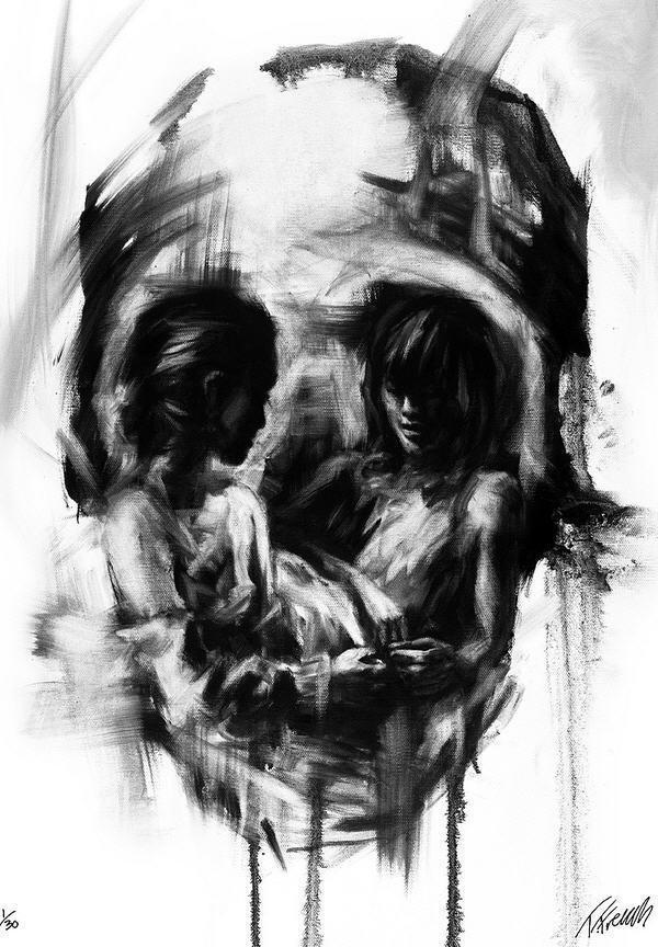 Skull Illusion Artwork by Tom French #tom #skull #illusion #french