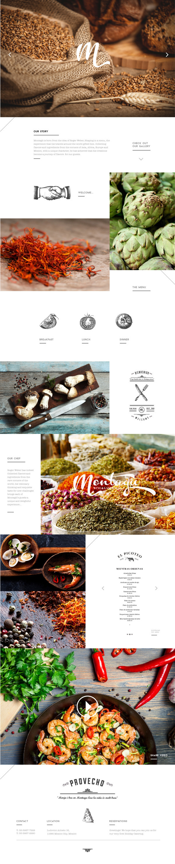 Montagxc3xbc on Behance #site #mexico #web #restaurant