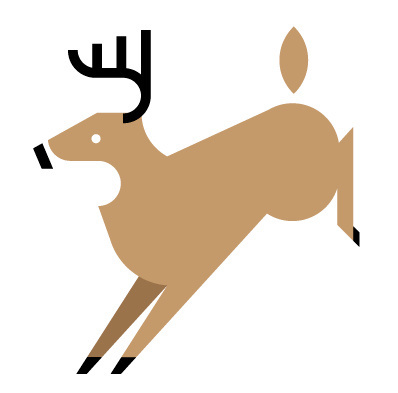 Deer by Always With Honor #icon #iconic #icondesign #picto #illustration #animal #deer #stag