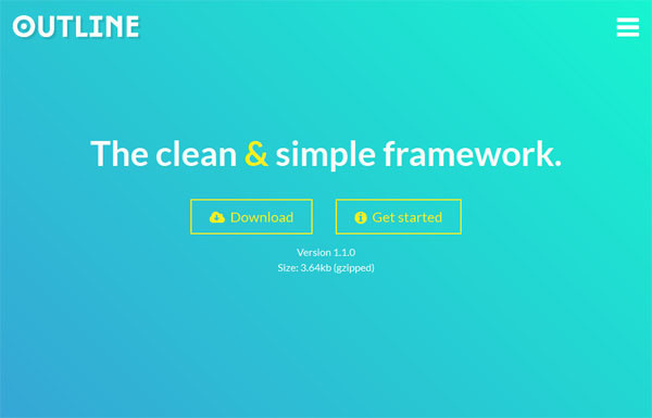 Outline – The Clean and Simple Responsive CSS Framework