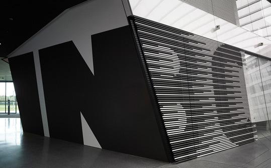 Adidas Laces. Designed by Büro Uebele Visuelle Kommunikation @enviromeant.com #graphics #wall