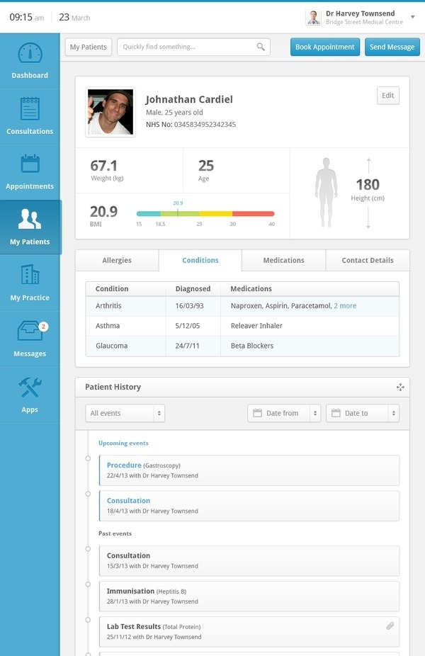 Clinical Dashboard #design #clean #ui #data #beautiful