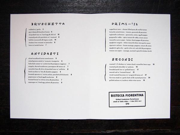 Sotto Christopher A. Ritter #futurism #menu #sotto