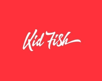 Kid Fish #logotype #handwriting #handwritten #logo #typography