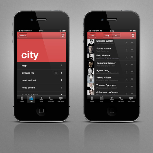 me and all hotels - iPhone App on the Behance Network #order #colour