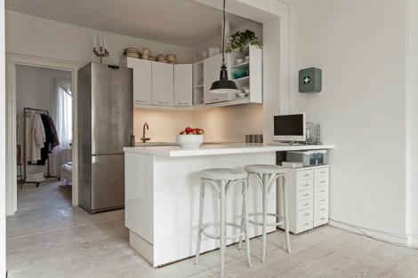 Small apartment in Malmo #interior #kitchen