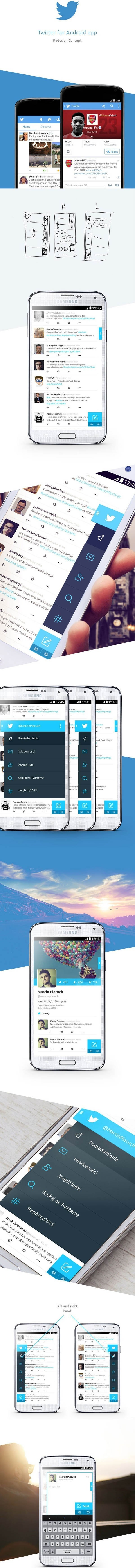 Twitter for Android – redesign concept by Marcin Placuch
