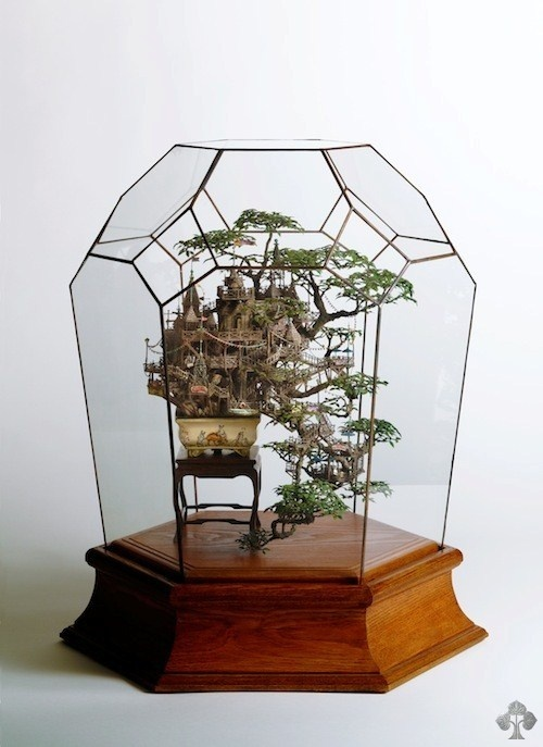 Takanori Aiba tokyo good idea #tree #diorama #treehouse #bonsai #miniature