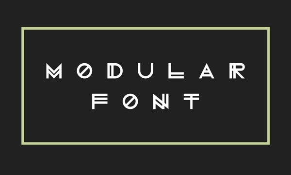 Modular Font on Behance #modular #font #vector #white #print #black #minimal #futura #dark #typography