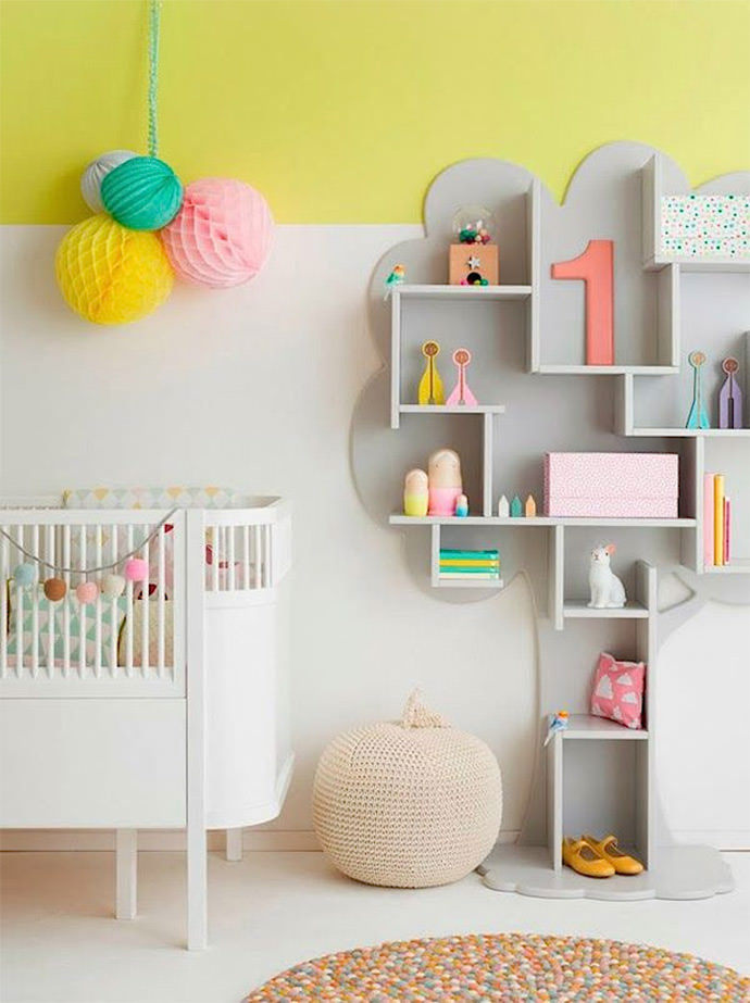DIY Storage Tree via chic deco blog #interior #room #design #decor #deco #kids #childrens #decoration