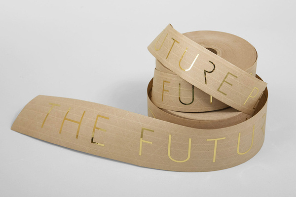 Collate #tape #packaging #gold #foil #typography