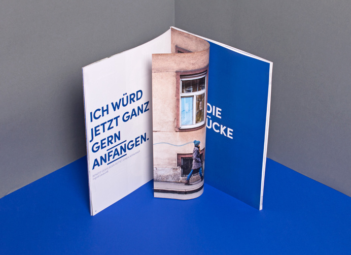 #graz #theatre #blue #underline #typography #editorial