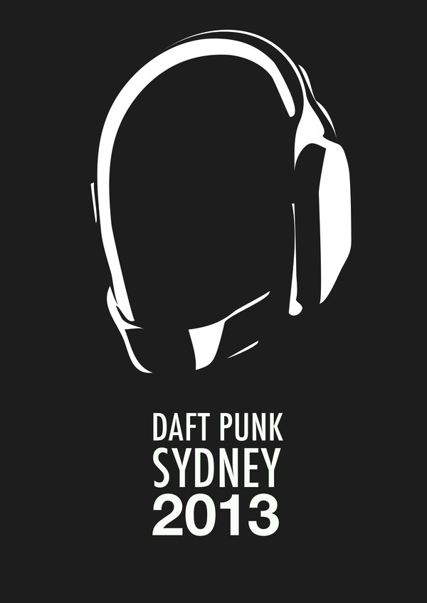 Daft Punk Tour Flat 2017 Sydney Graphic Design