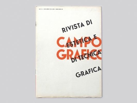 Display | Campo Grafico 1933 6 | Collection #cover #vintage #publication #typography