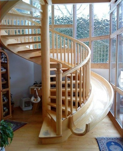 Stairs or Slider | Fab.com #wood #home #slide