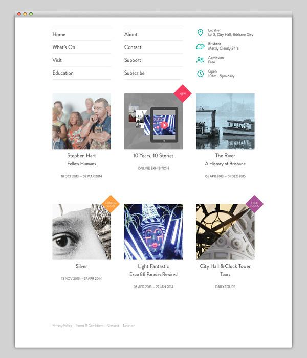 Museum of Brisbane #website #layout #design #web
