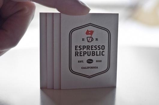 FPO: Espresso Republic Business Cards #expresso #business #branding #card #letterpress #logo