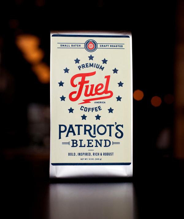 Patriot.jpg #packaging #logo #coffee #typography