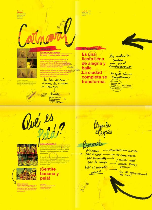 Pelá Brazilian Festival on Behance #typography