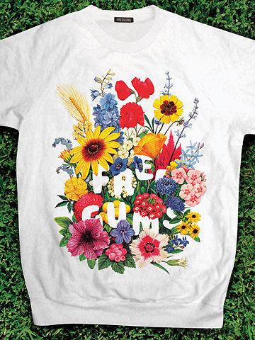 Freegums Annuals Sweatshirt #annuals #retro #tee #flowers