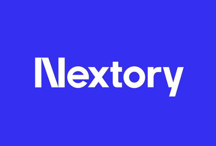 Nextory by Essen International #logotype