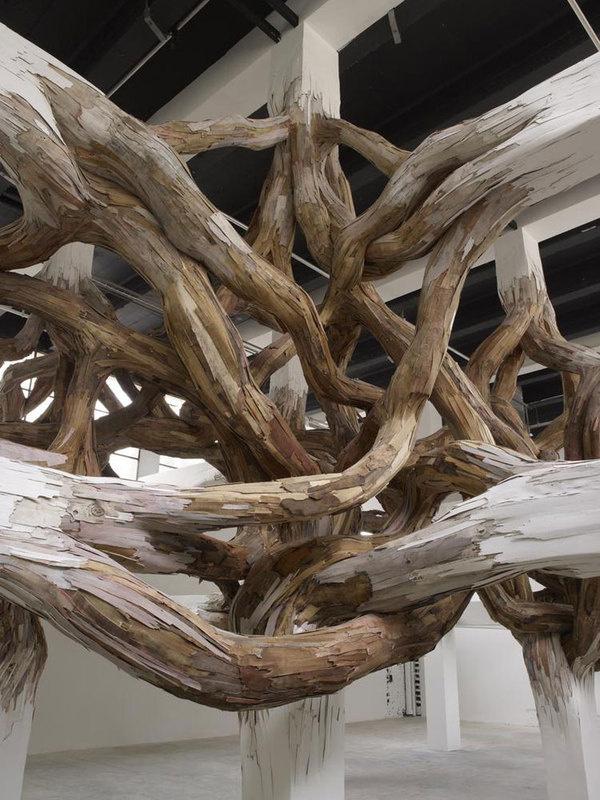 henrique oliveira baitogogo designboom 05 #wood #sculpture