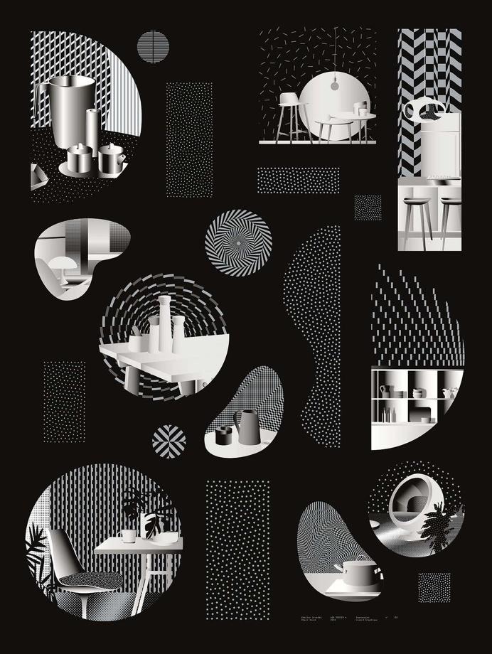 Irradié #poster #illustration #opart