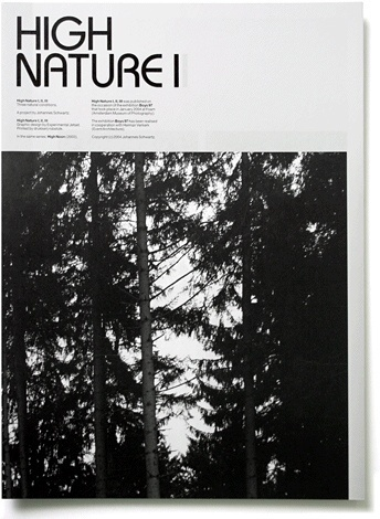 High Nature - Experimental Jetset #white #experimental #black #nature #and #jetset #booklet #brochure