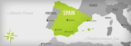 brianandsteph2011.com | Our Story #illustration #europe #spain #map