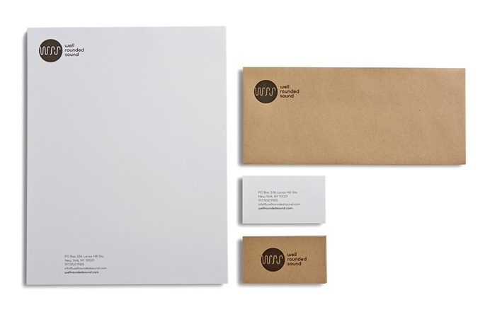 best stationery package rounded sound business images on designspiration
