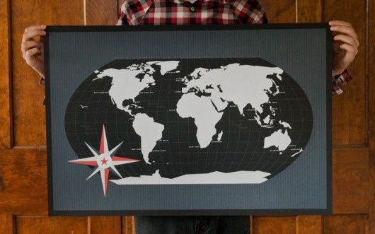 These Are Things || Shop || World Map / Black #world #map