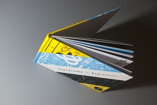 Typography for Beginners on the Behance Network #design #yellow #book #black #cover #blue #typography
