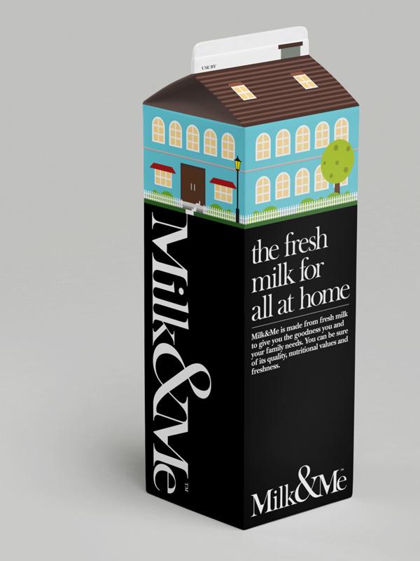 Milk & Me - Fresh #house #packaging #design #graphic #home #milk #carton