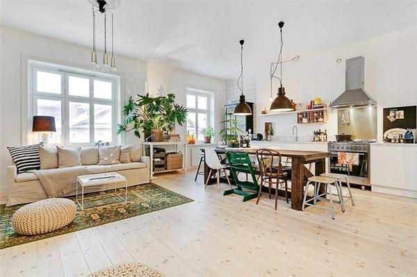 Stort vardagsrum/kök #interior #design #stockholm #decoration