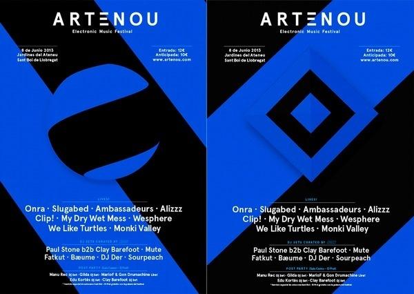 Artenou - maumorgo #blue #black #poster #typography