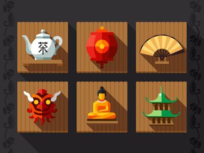 China #dragon #lantern #rice #buddha #wall #hat #china #tea #fan #east