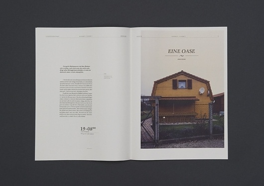 viennese housing culture - a phenomenon on the Behance Network #publication #clean #culture #european #vienesse #paper #magazine #housing