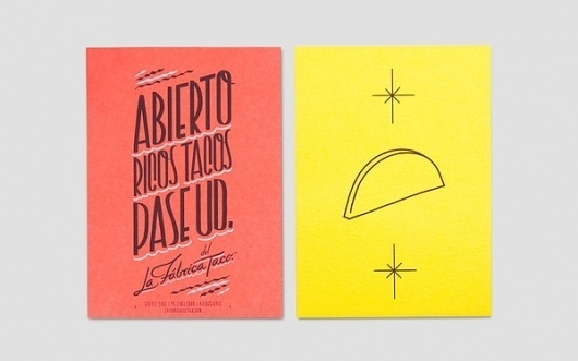 La Fabrica del Taco on the Behance Network #taco #anagrama #branding