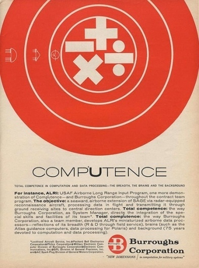 Burroughs Corporation Ads | AisleOne #burroughs #corp #aisleone