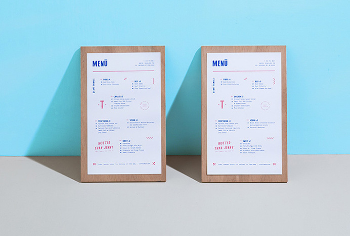 Craft Tamale by Futura #graphic design #menu #print