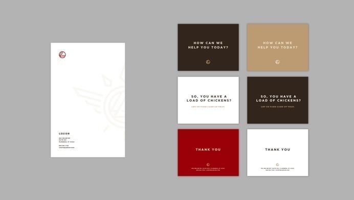 Legion_Presentation #creative #logotype #visual #internal #deck #bullhorn #design #graphic #presentation #rebrand #brand #identity #collateral #stationery