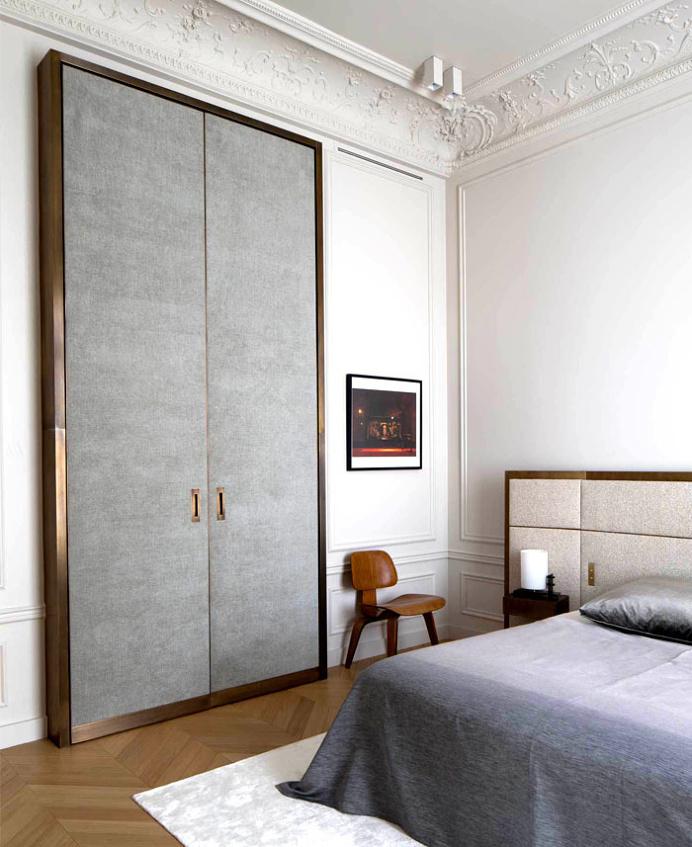 Spectacular Paris Apartment by Rodolphe Parente - bedroom, bedroom design, bed, bedroom decorating, #bedroom